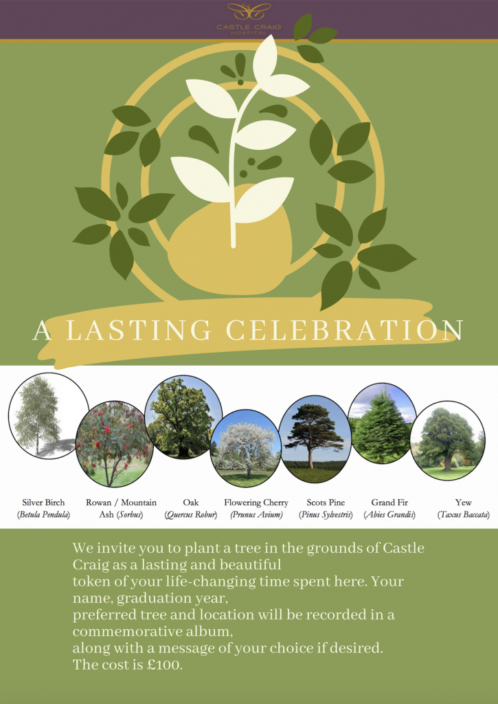A lasting celebration - plant a tree at Castle Craig