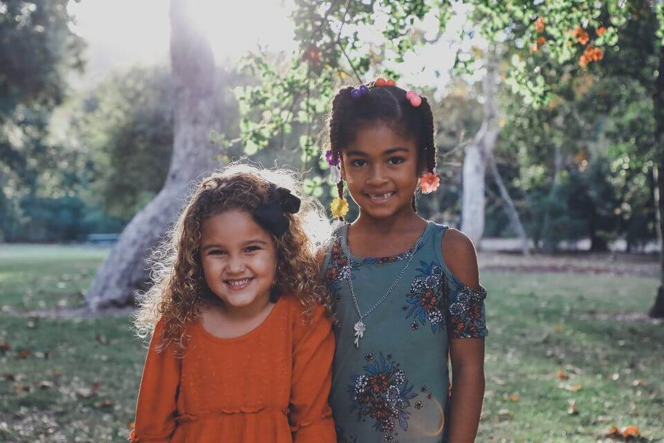 Two young girls in forest; how do I prevent my child from becoming an alcoholic? Castle Craig rehab