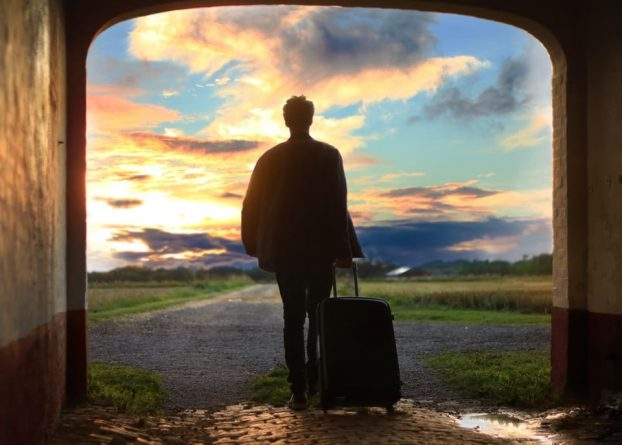 man leaving with suitcase; what to expect when you leave rehab, Castle Craig