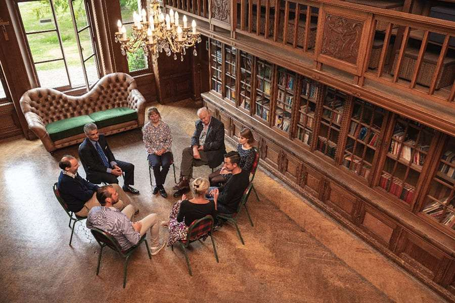 Castle Craig clients at a group session