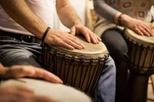 A drumming group