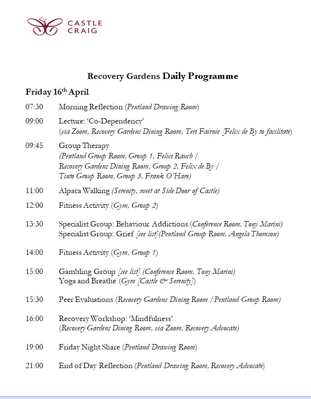 Example Advanced treatment day